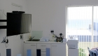 2 Omega Kitchenette and view to Robben Island